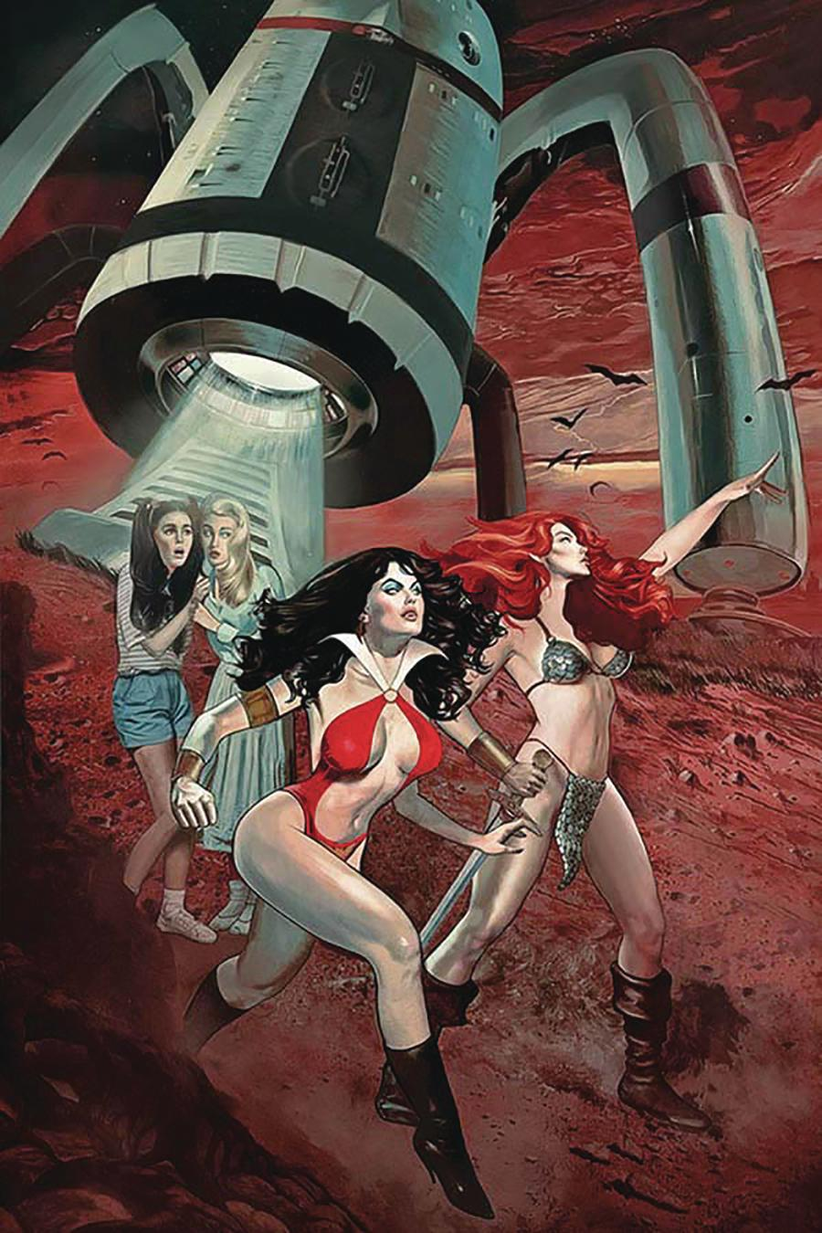 Red Sonja And Vampirella Meet Betty And Veronica #8 Cover N Limited Edition Fay Dalton Virgin Cover