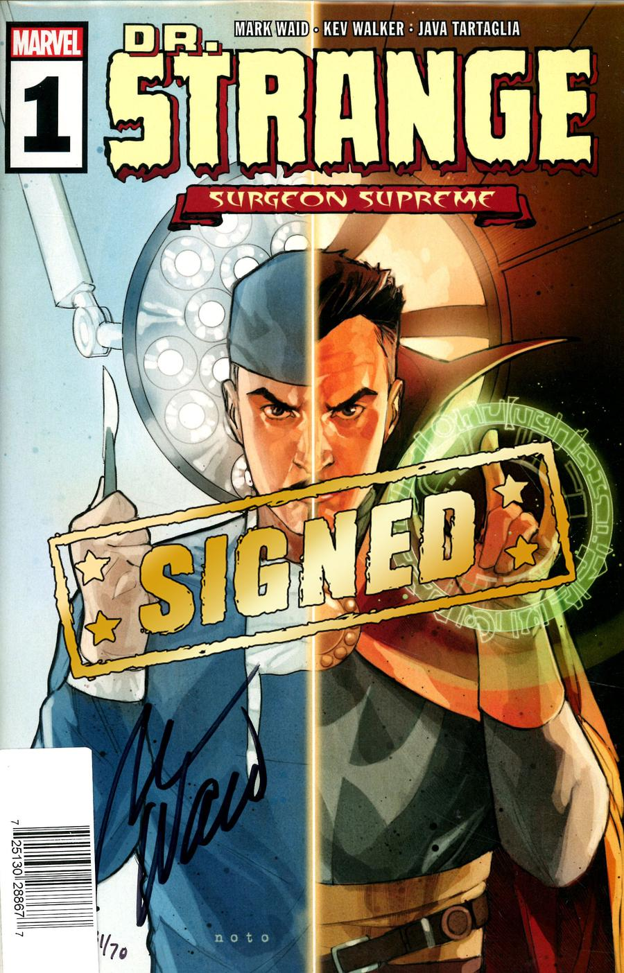 Doctor Strange Surgeon Supreme #1 Cover F DF Signed By Mark Waid