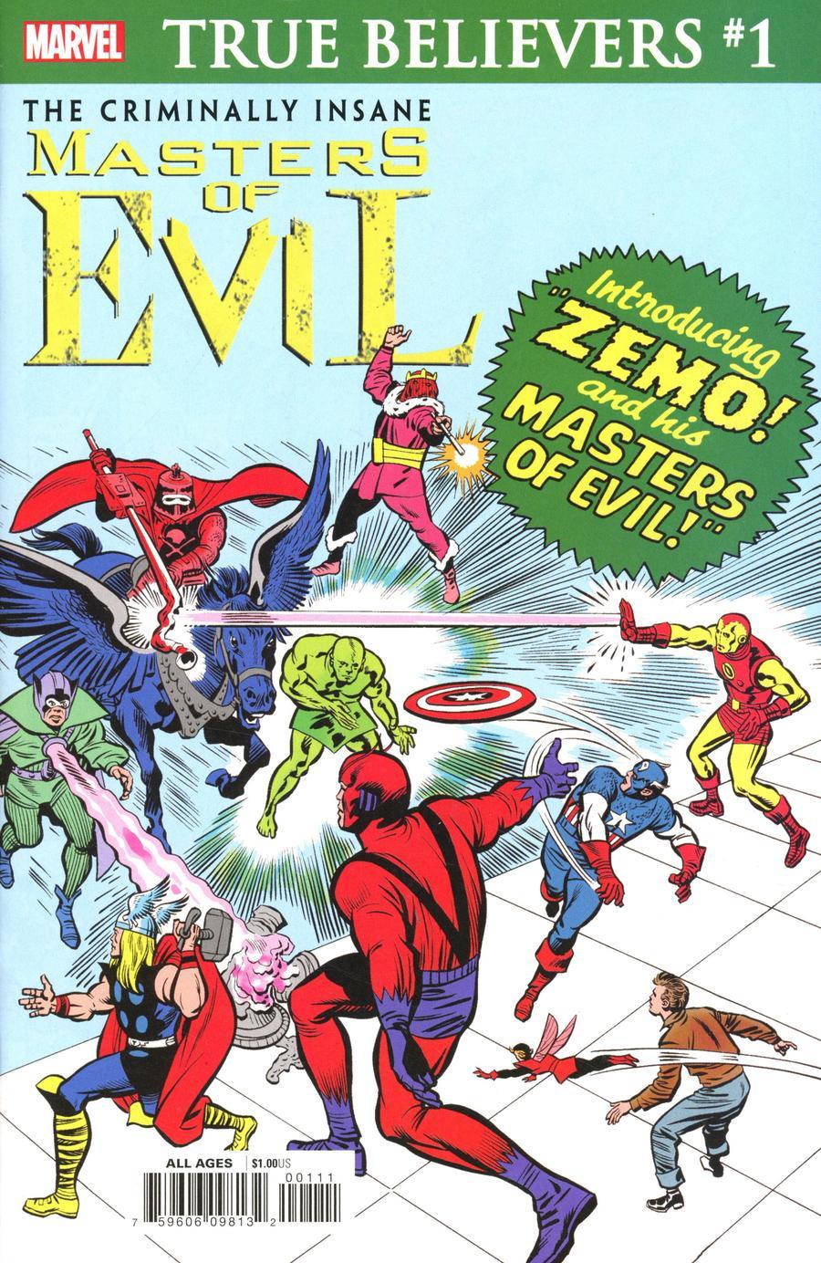 True Believers Criminally Insane Masters Of Evil #1