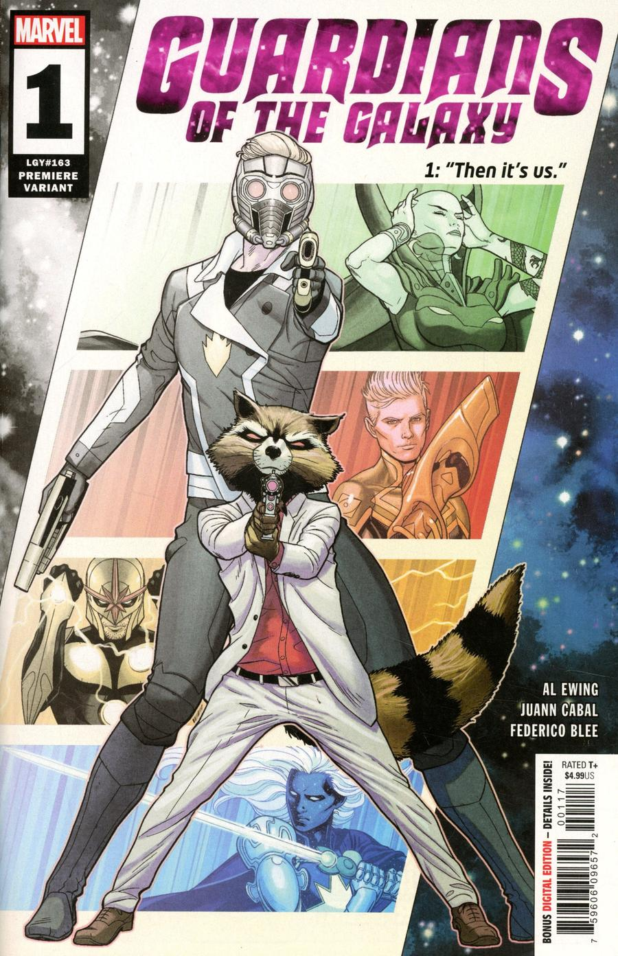 Guardians Of The Galaxy Vol 6 #1 Cover J Incentive Juann Cabal Premiere Variant Cover