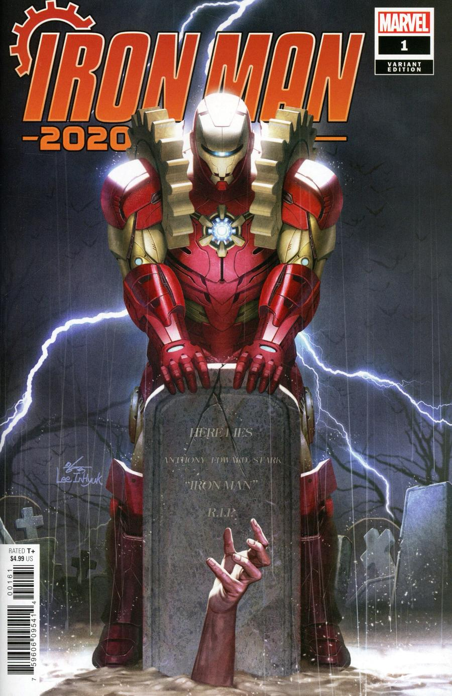 Iron Man 2020 #1 Cover H Incentive Inhyuk Lee Variant Cover