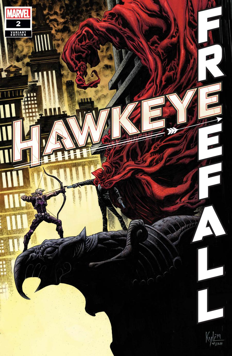 Hawkeye Freefall #2 Cover B Incentive Kyle Hotz Variant Cover