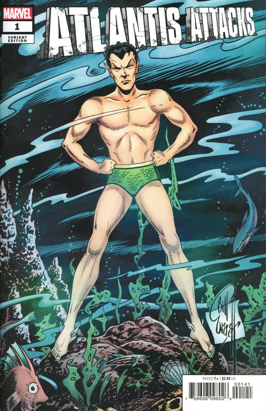 Atlantis Attacks #1 Cover C Incentive Bill Everett Hidden Gem Variant Cover