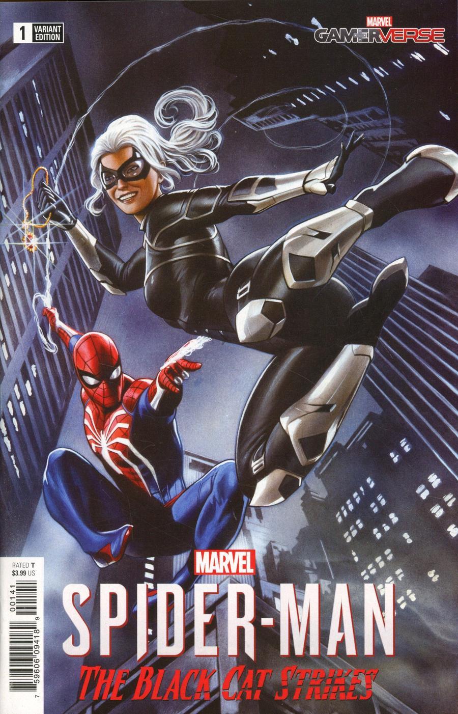 Marvels Spider-Man Black Cat Strikes #1 Cover C Incentive Adi Granov Game Variant Cover