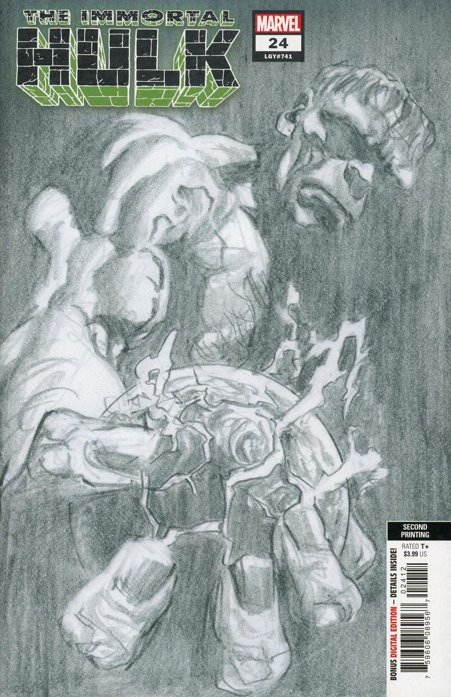Immortal Hulk #24 Cover C 2nd Ptg Alex Ross Cover