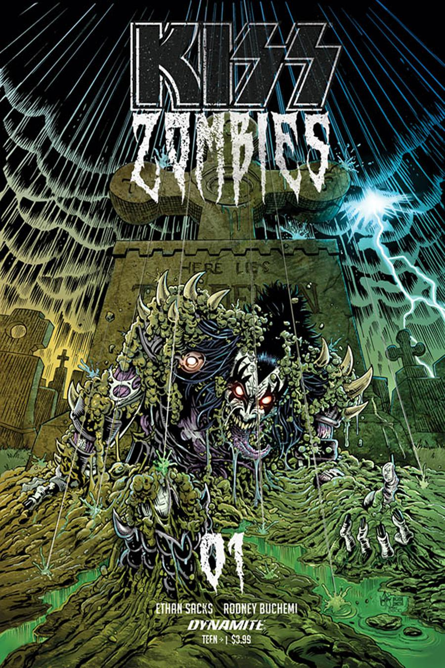 KISS Zombies #1 Cover E Incentive Ken Haeser Color Variant Cover
