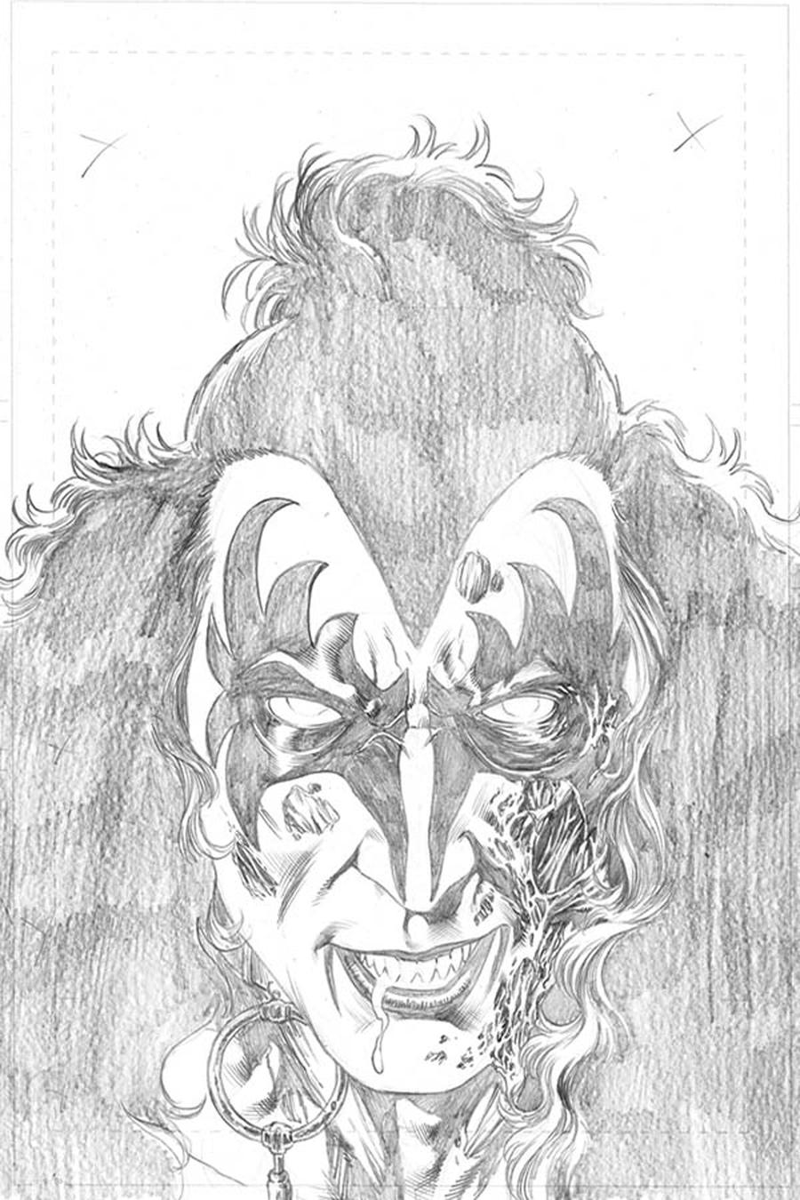 KISS Zombies #1 Cover H Incentive Rodney Buchemi Sneak Peek Pencil Cover