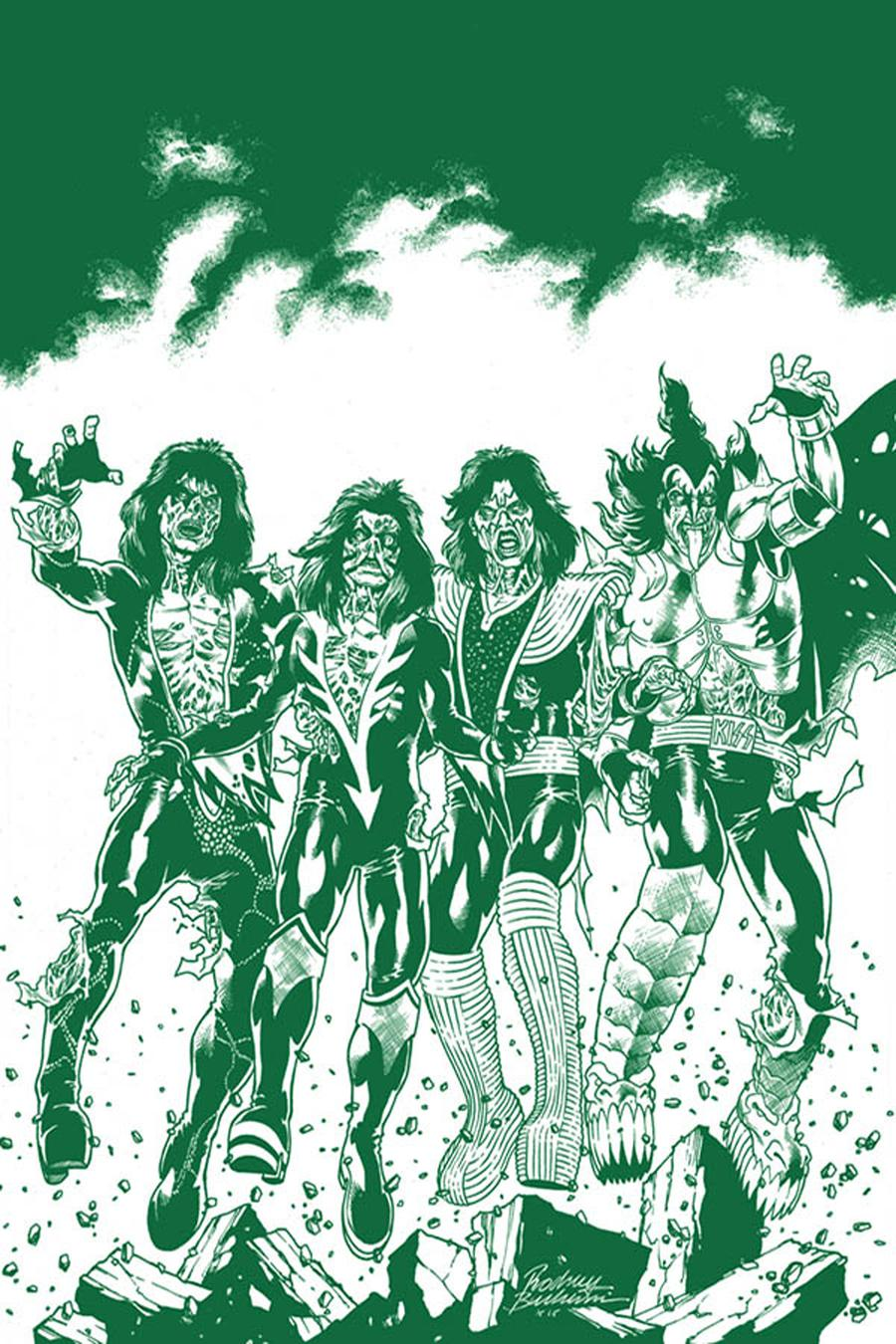 KISS Zombies #1 Cover K Incentive Rodney Buchemi Virgin Tint Cover