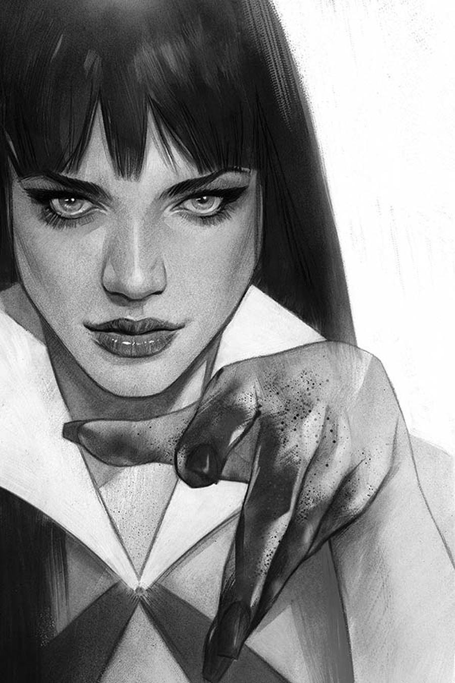 Vengeance Of Vampirella Vol 2 #2 Cover I Incentive Ben Oliver Black & White Virgin Cover
