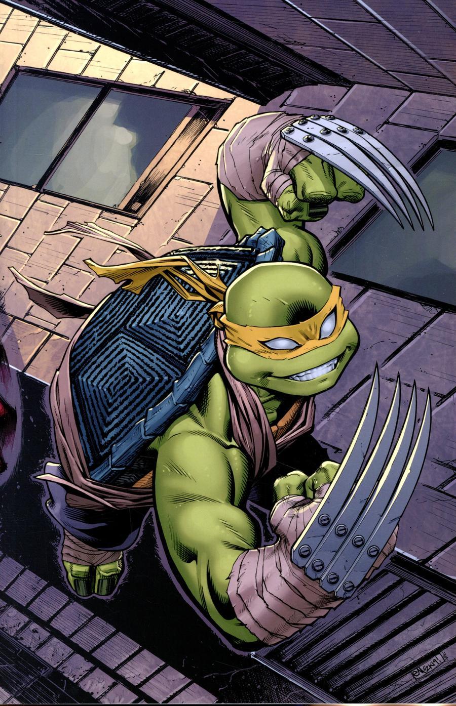 Teenage Mutant Ninja Turtles Vol 5 #100  Midtown Exclusive Cover B Ed McGuinness Wraparound Jennika Virgin Variant Cover