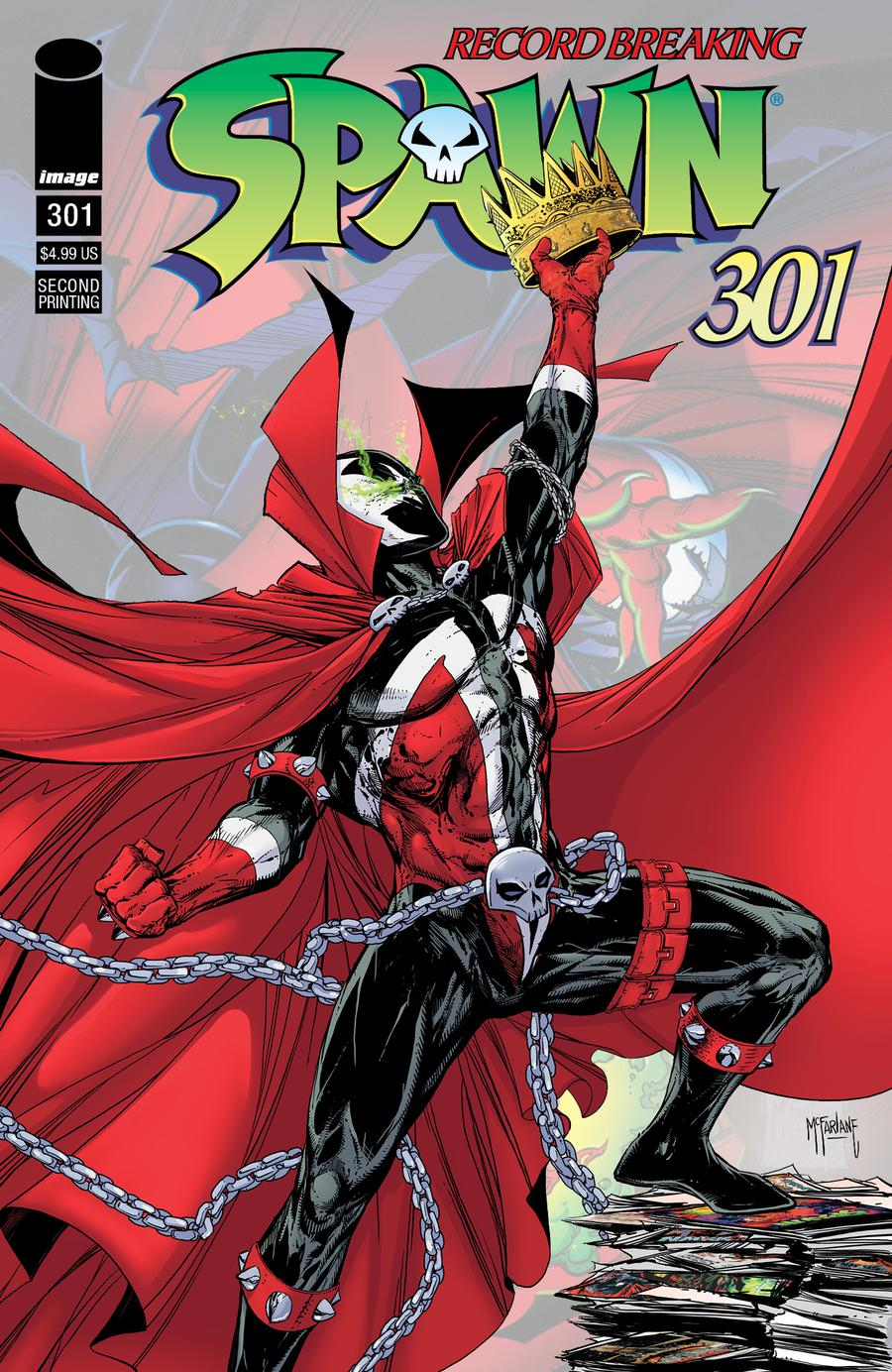 Spawn #301 Cover R 2nd Ptg Variant Todd McFarlane Cover