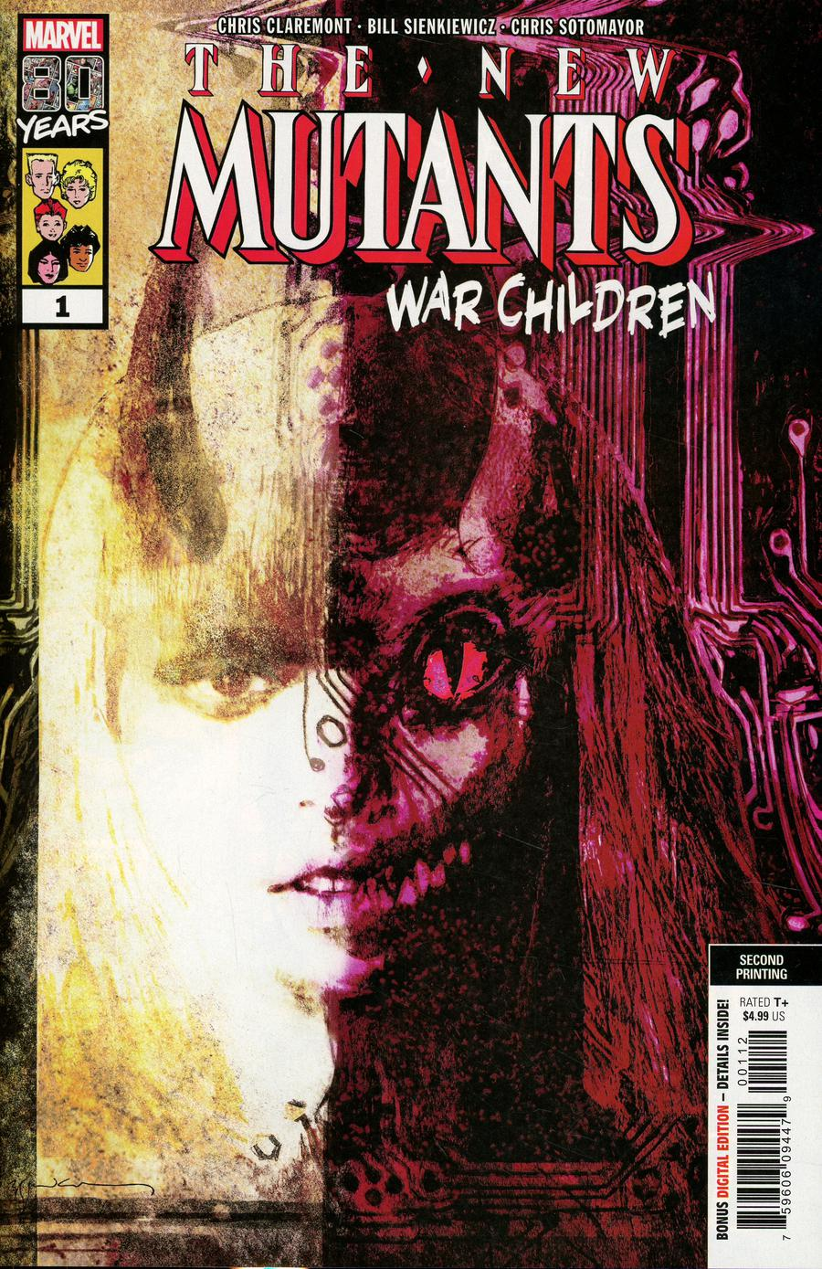 New Mutants War Children #1 Cover D 2nd Ptg Variant Bill Sienkiewicz Cover