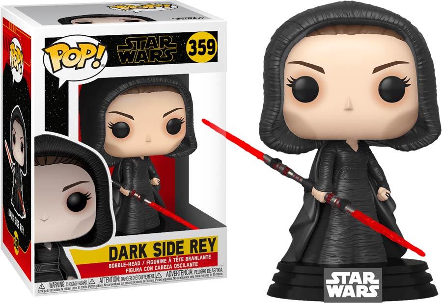 Pop Star Wars Star Wars The Rise Of Skywalker Dark Rey Vinyl Bobble Head Midtown Comics