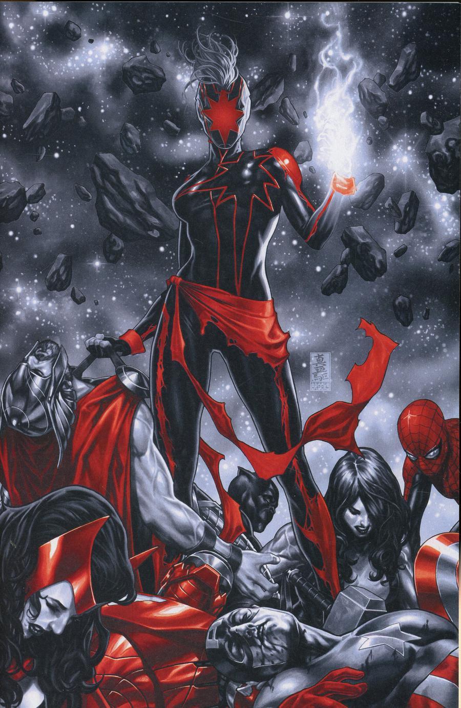 Captain Marvel Vol 9 #12 Cover E Incentive Mark Brooks Spot Color Virgin Cover
