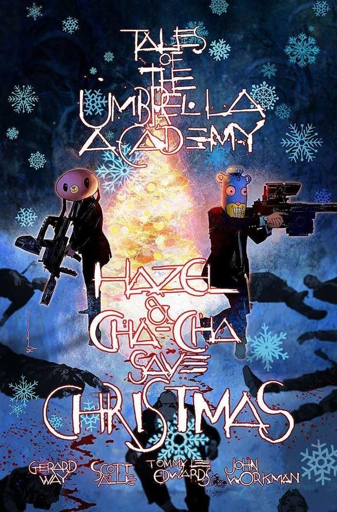 LCSD 2019 Hazel And Cha Cha Save Christmas Tales From The Umbrella Academy Variant Bill Sienkiewicz Cover