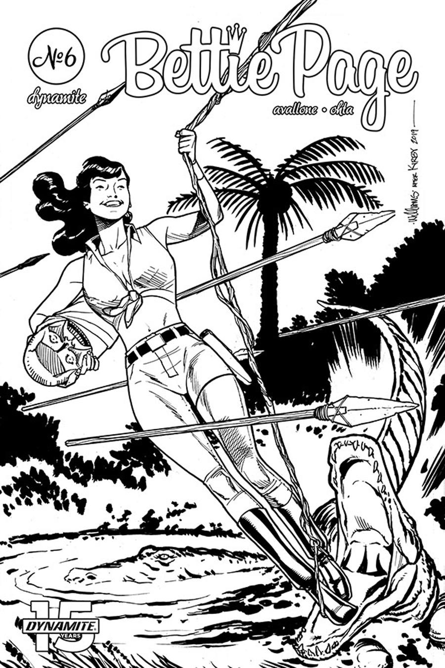 Bettie Page Unbound #6 Cover G Incentive David Williams Black & White Cover