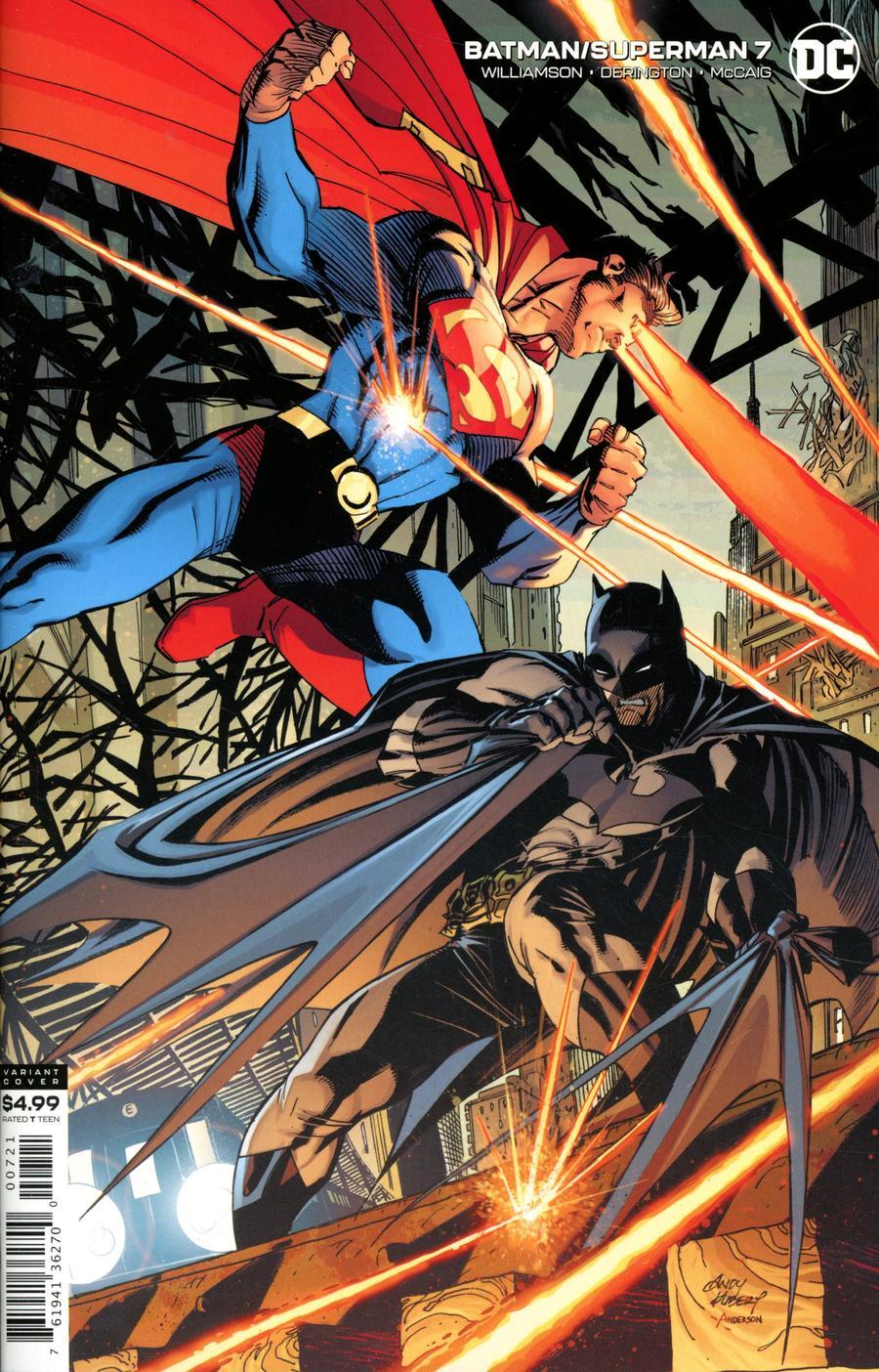 Batman Superman Vol 2 #7 Cover B Variant Andy Kubert Card Stock Cover