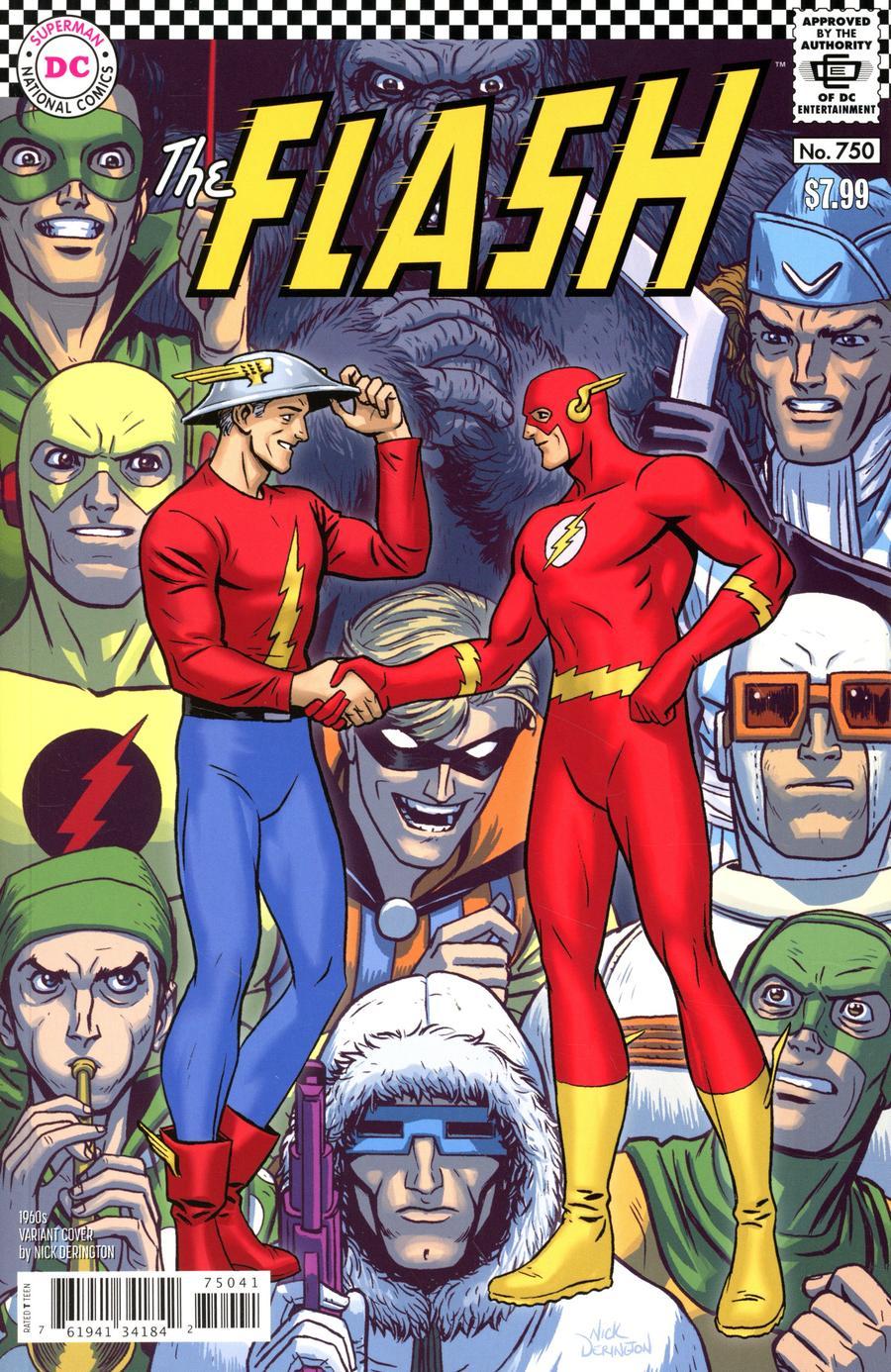 Flash Vol 5 #750 Cover D Variant Nick Derington 1960s Cover