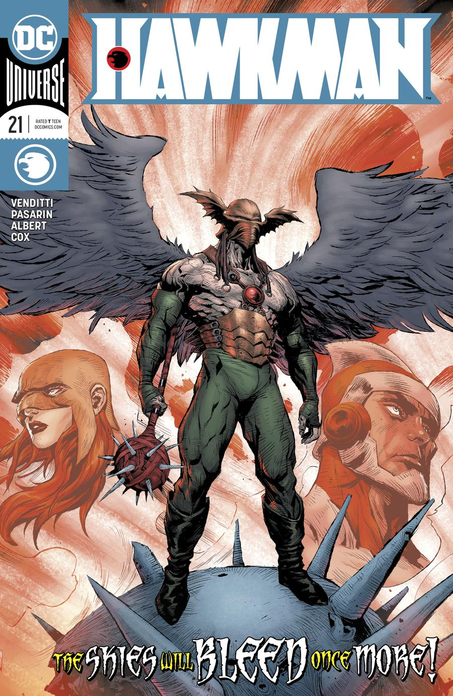 Hawkman Vol 5 #21 Cover A Regular Raymund Bermudez Cover