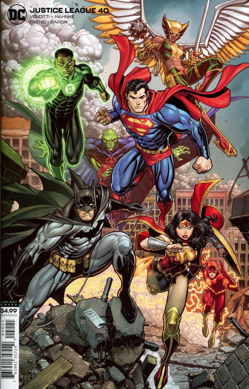 Justice League Vol 4 #40 Cover B Variant Arthur Adams Card Stock Cover