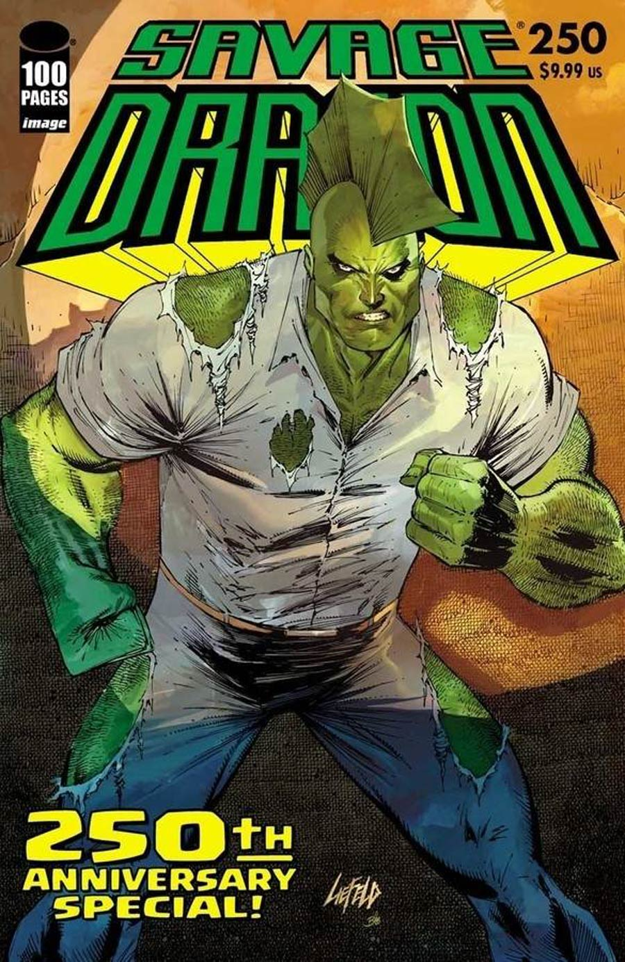 Savage Dragon Vol 2 #250 Cover C Variant Rob Liefeld Cover