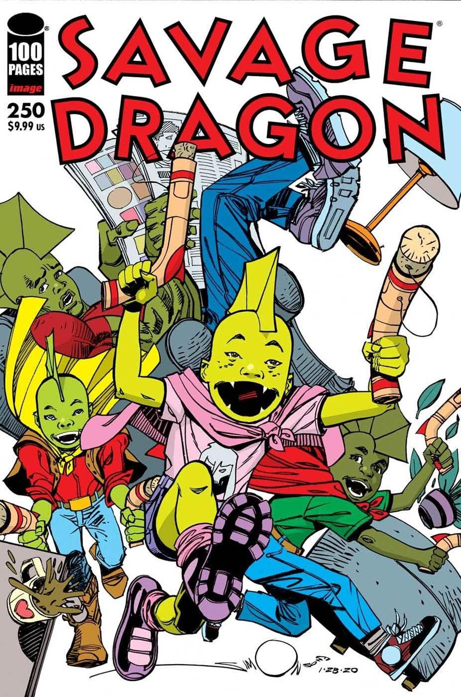Savage Dragon Vol 2 #250 Cover D Variant Walter Simonson Cover