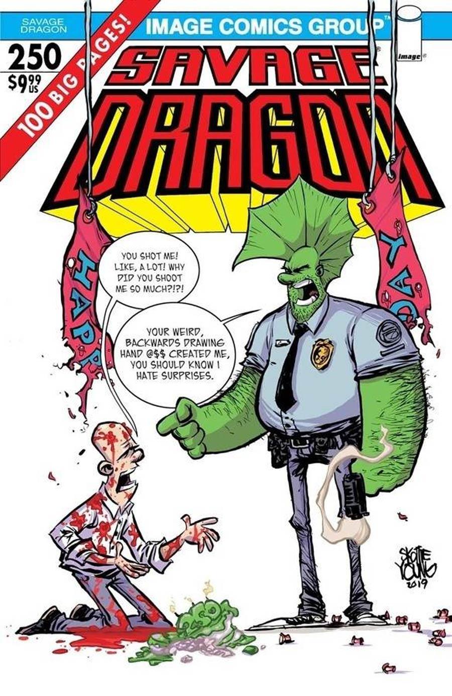 Savage Dragon Vol 2 #250 Cover E Variant Skottie Young Cover