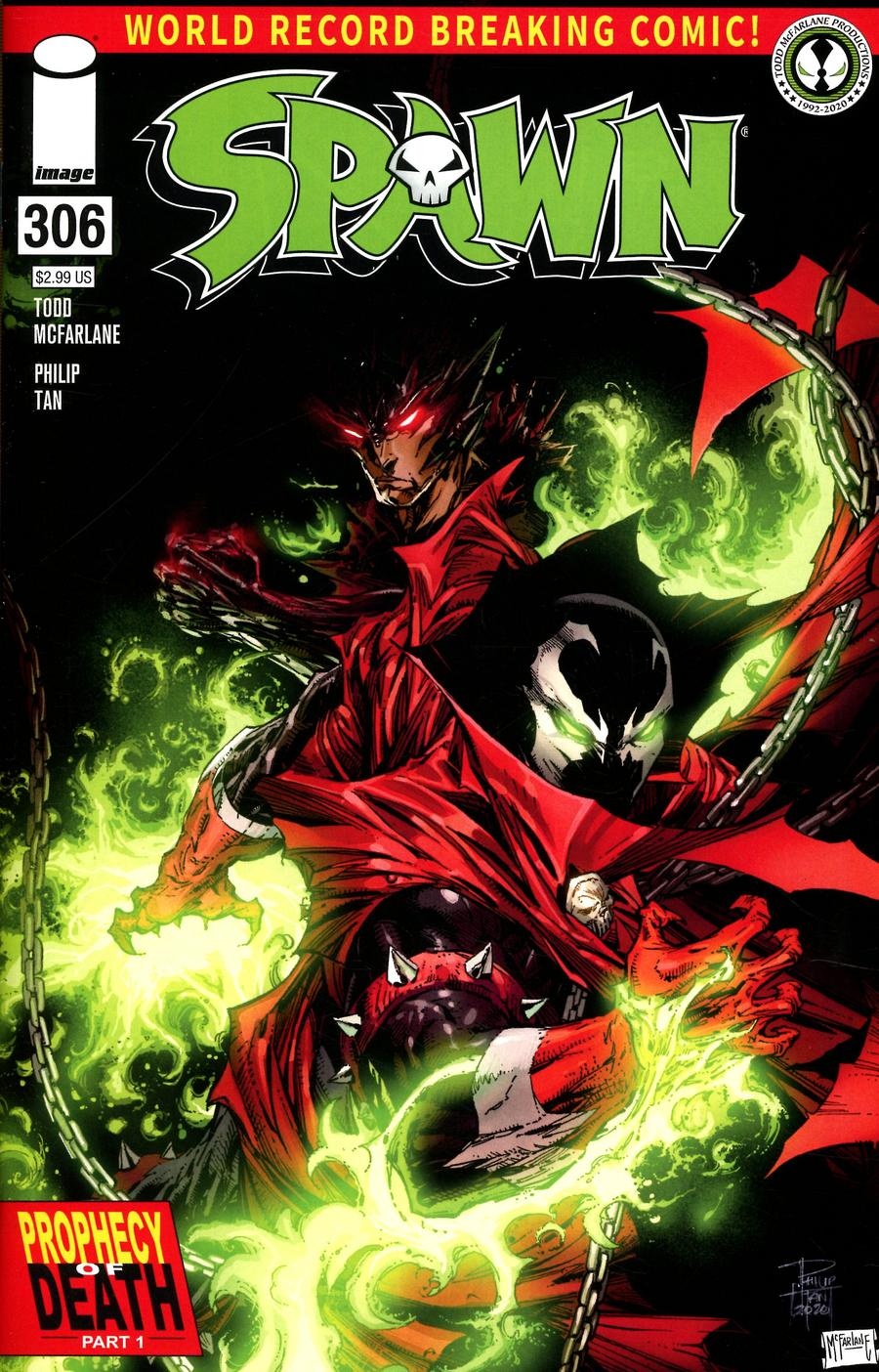 Spawn #306 Cover A Regular Philip Tan & Todd McFarlane Cover