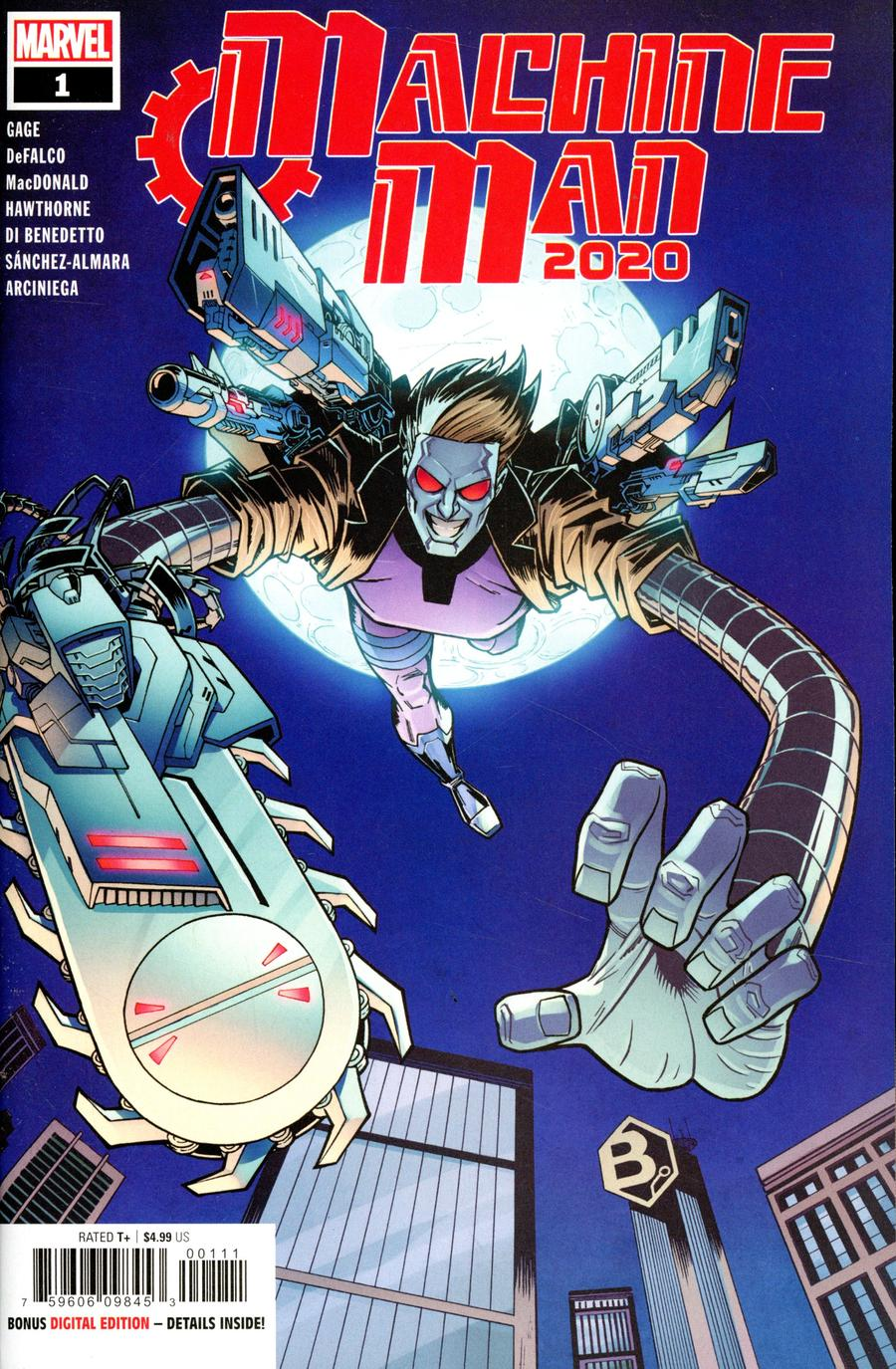 2020 Machine Man #1 Cover A Regular Nick Roche Cover