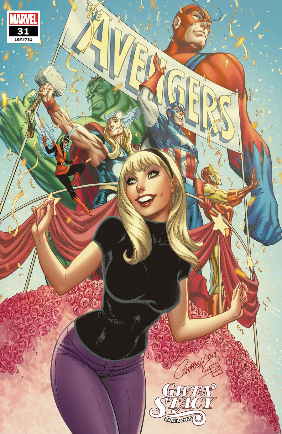 Avengers Vol 7 #31 Cover B Variant J Scott Campbell Gwen Stacy Cover