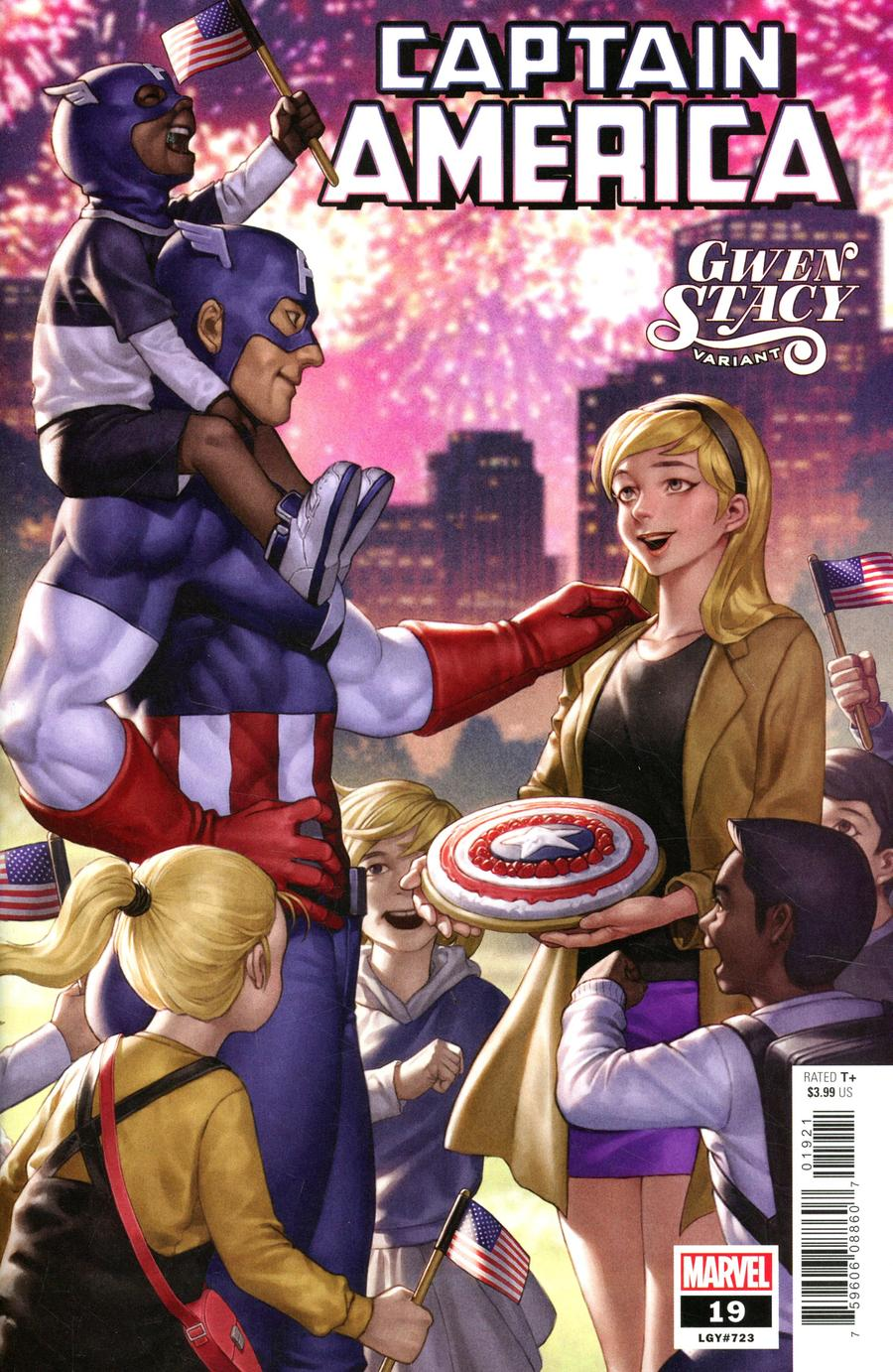 Captain America Vol 9 #19 Cover B Variant Junggeun Yoon Gwen Stacy Cover