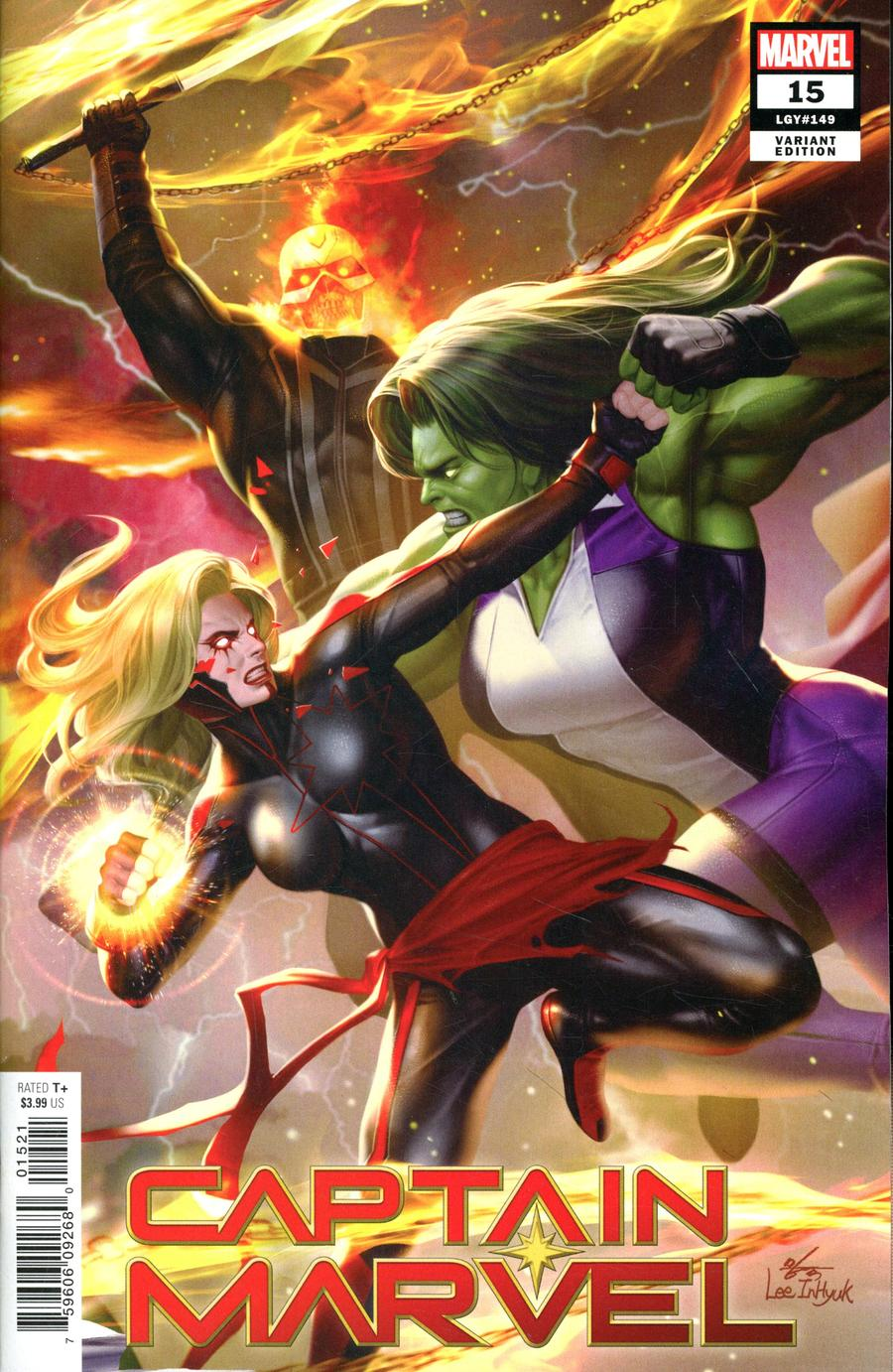 Captain Marvel Vol 9 #15 Cover D Variant Inhyuk Lee Connecting Cover