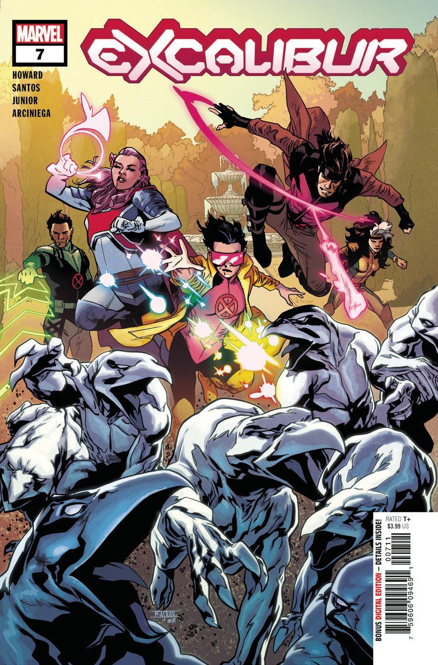 Excalibur Vol 4 #7 Cover A Regular Mahmud Asrar Cover (Dawn Of X Tie-In)