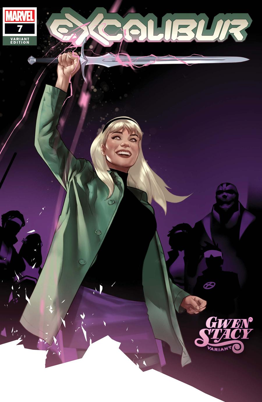 Excalibur Vol 4 #7 Cover B Variant Ben Oliver Gwen Stacy Cover (Dawn Of X Tie-In)