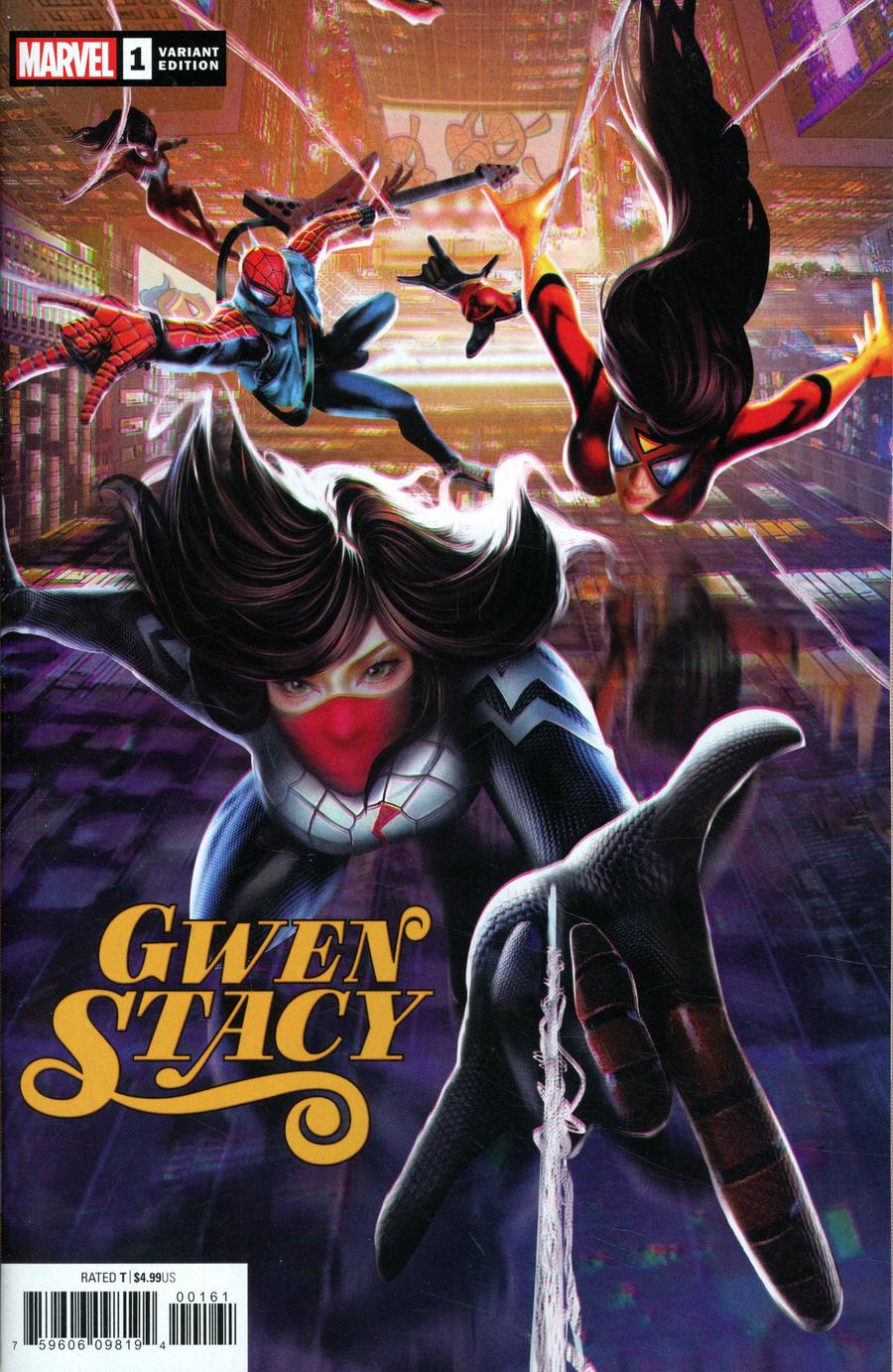 Gwen Stacy #1 Cover C Variant Jie Yuan Chinese New Year Connecting Cover