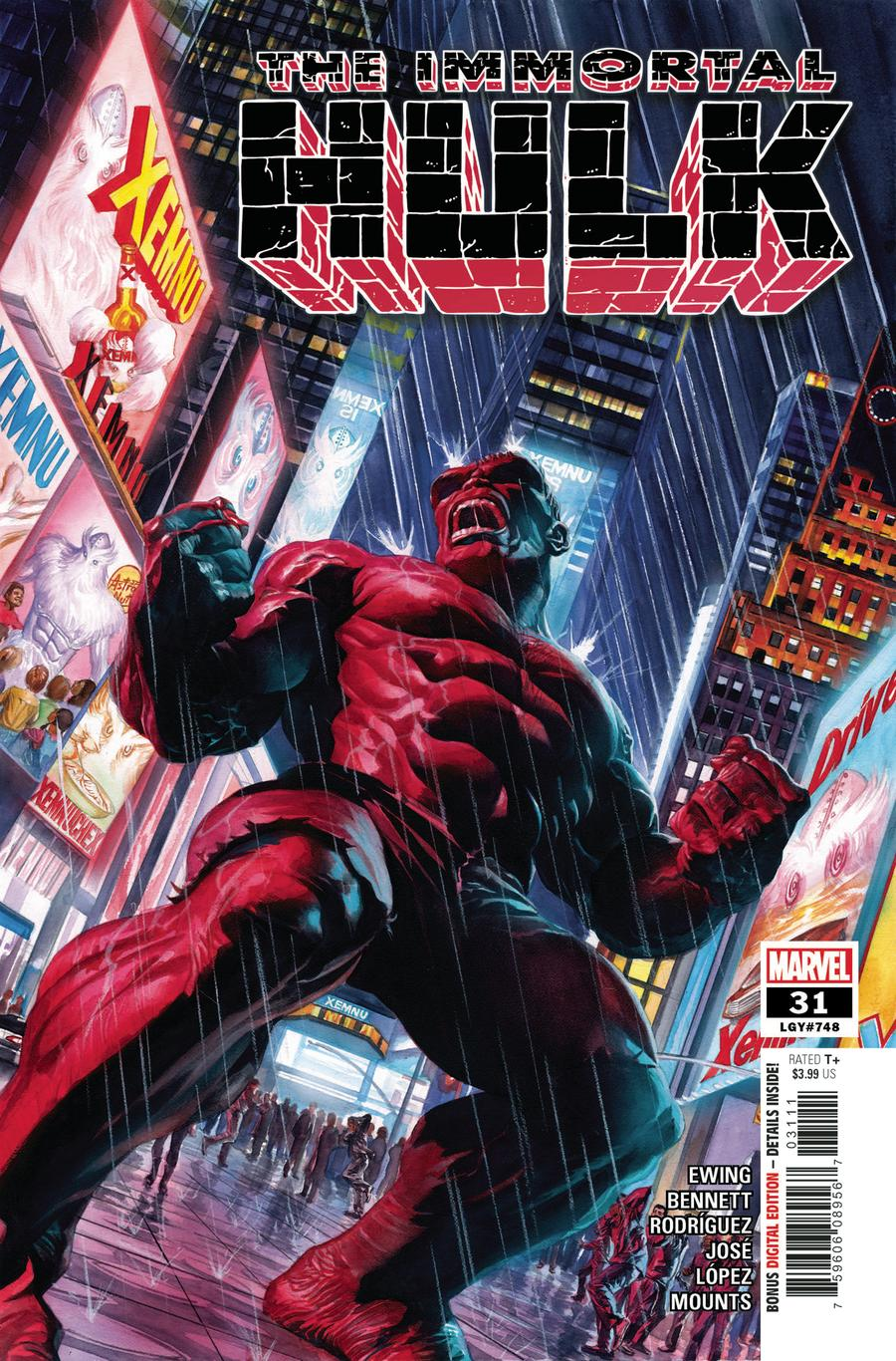 Immortal Hulk #31 Cover A Regular Alex Ross Cover