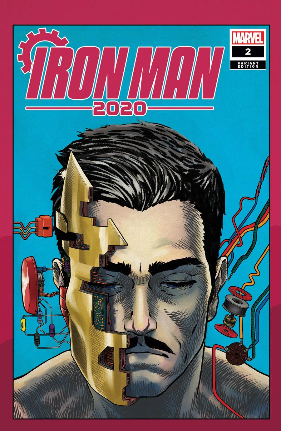 Iron Man 2020 #2 Cover B Variant Superlog Heads Cover
