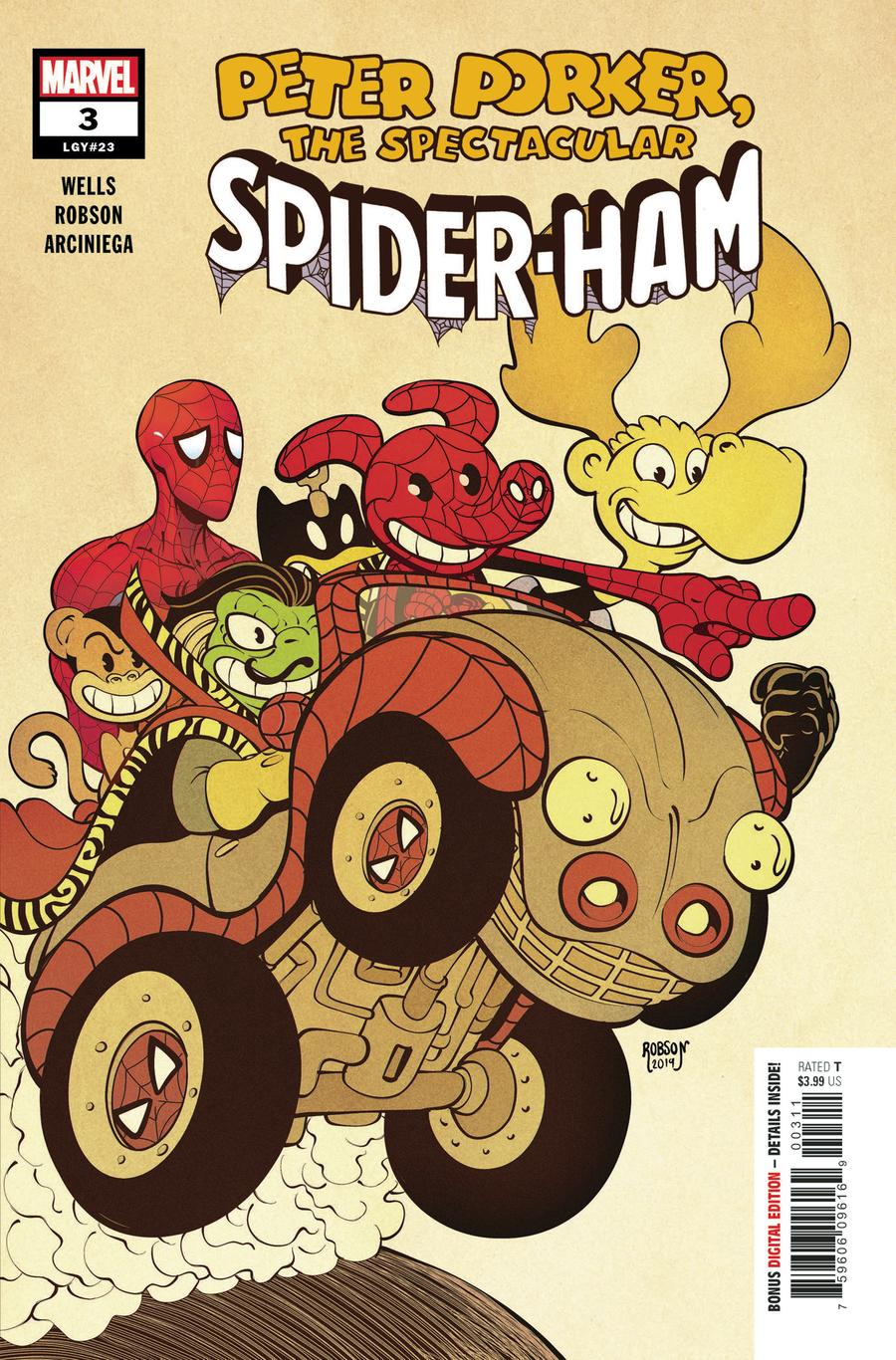 Spider-Ham #3 Cover A Regular Will Robson Cover
