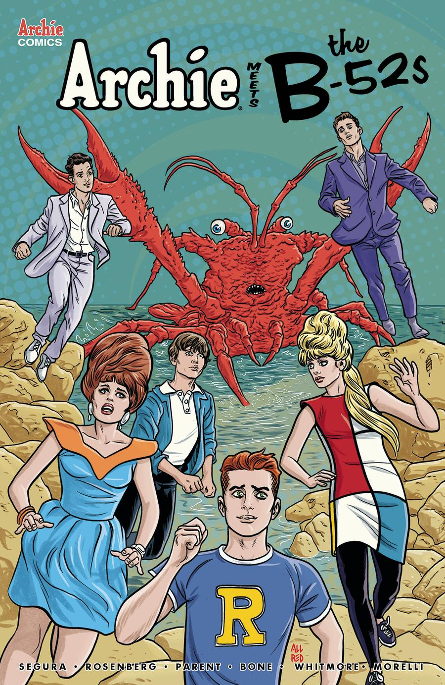 Archie Meets The B-52s #1 Cover B Variant Michael Allred & Laura Allred Cover