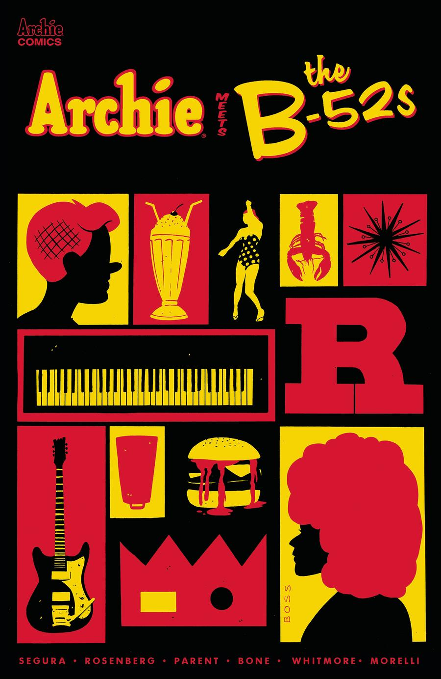 Archie Meets The B-52s #1 Cover C Variant Tyler Boss Cover