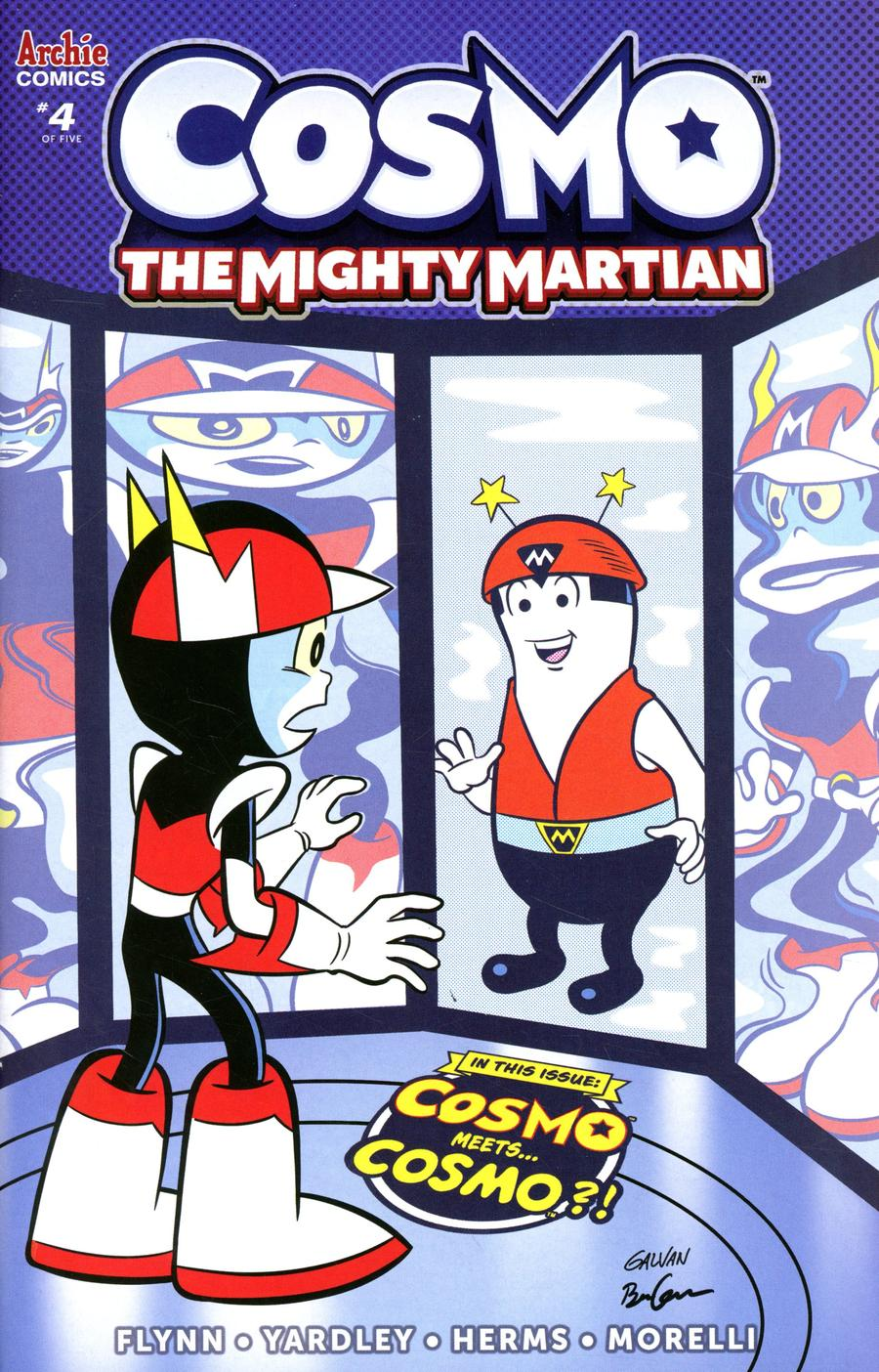 Cosmo The Mighty Martian #4 Cover B Variant Bill Galvan & Ben Galvan Cover