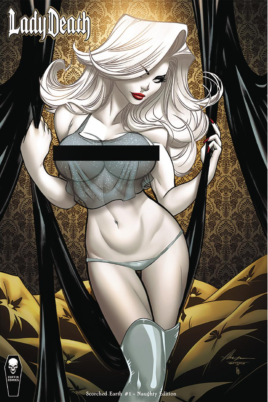 Lady Death Scorched Earth #1 Cover D Variant Ale Garza Naughty Cover