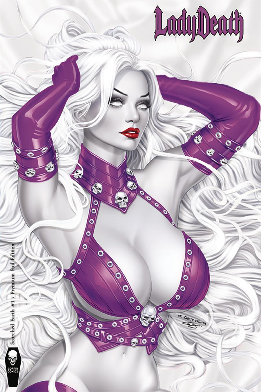 Lady Death Scorched Earth #1 Cover C Variant Richard Ortiz Premium Foil Cover
