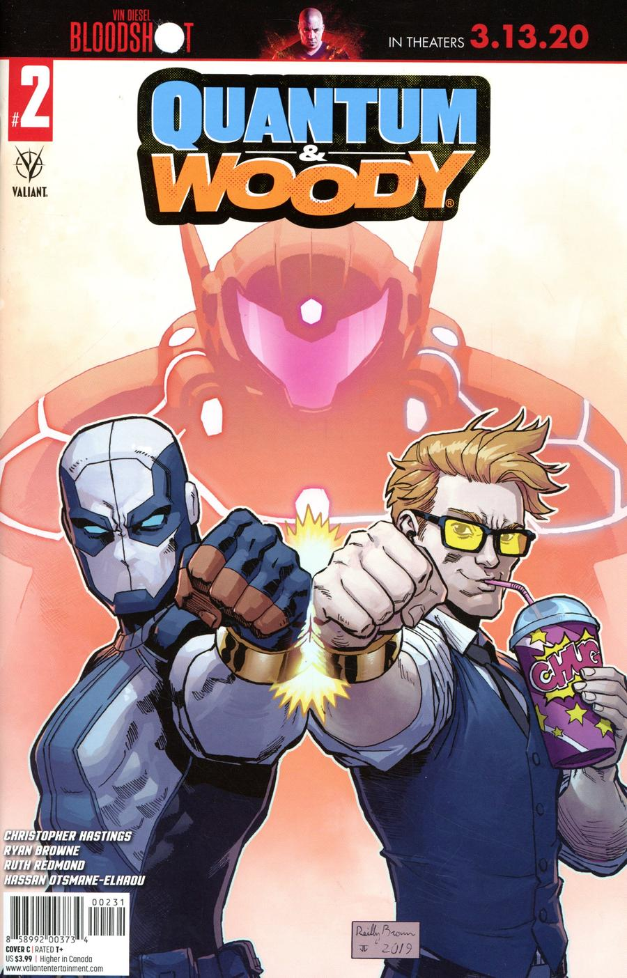 Quantum & Woody Vol 5 #2 Cover C Variant Reilly Brown Cover