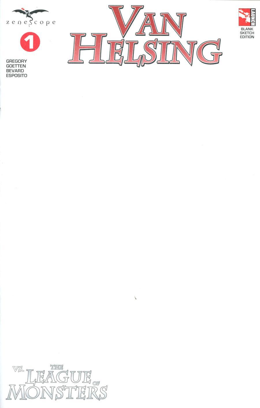 Grimm Fairy Tales Presents Van Helsing vs The League Of Monsters #1 Cover F Blank
