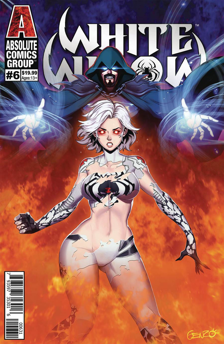 White Widow #6 Cover C Variant Genzoman Wraparound Lenticular Cover
