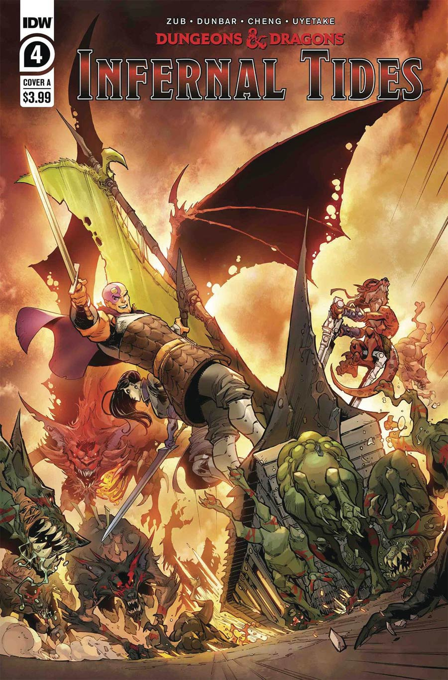 Dungeons & Dragons Infernal Tides #4 Cover A Regular Max Dunbar Cover