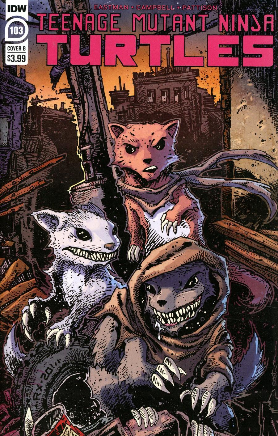 Teenage Mutant Ninja Turtles Vol 5 #103 Cover B Variant Kevin Eastman Cover