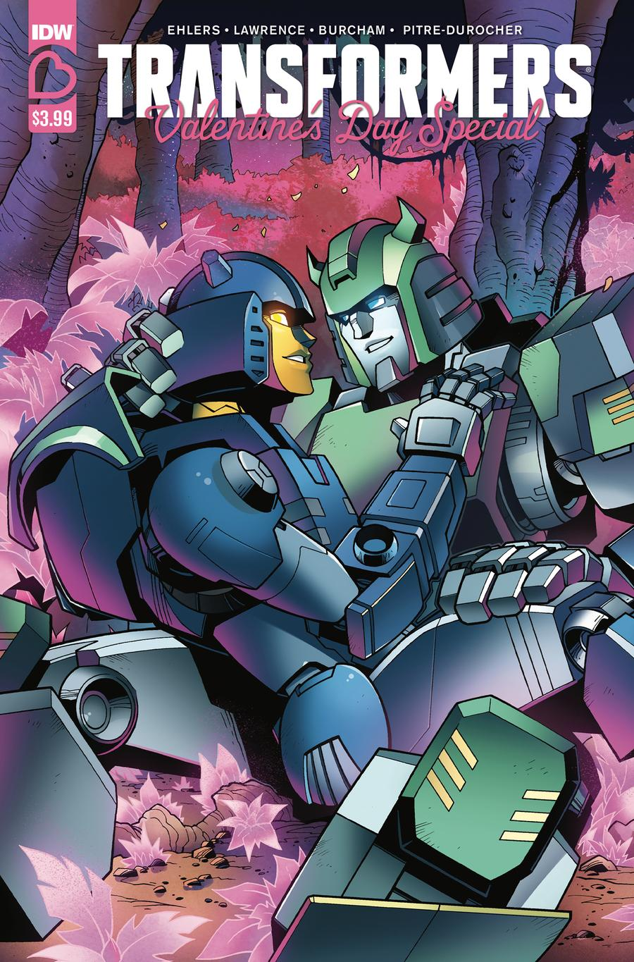 Transformers Valentines Day Special Cover A Regular Jack Lawrence Cover