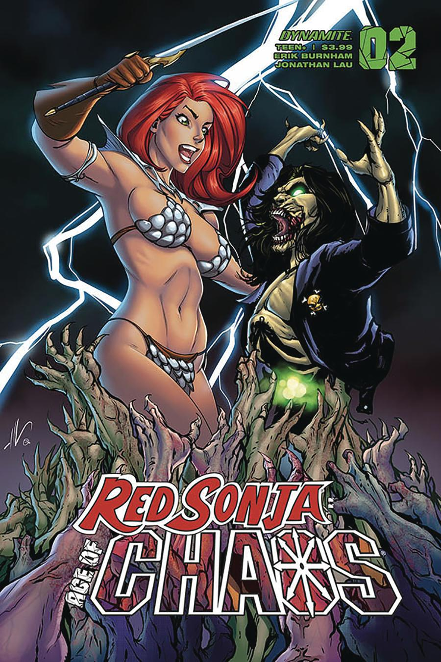 Red Sonja Age Of Chaos #2 Cover D Variant Ale Garza Cover